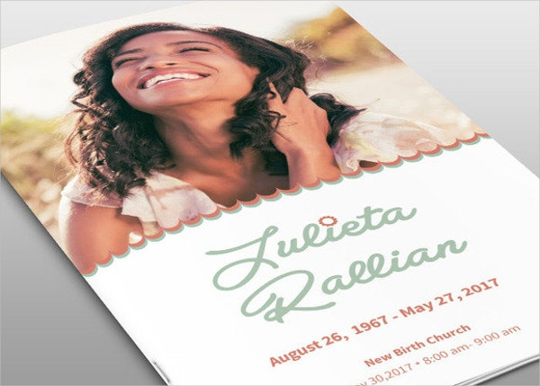 Atelas Funeral Program Template