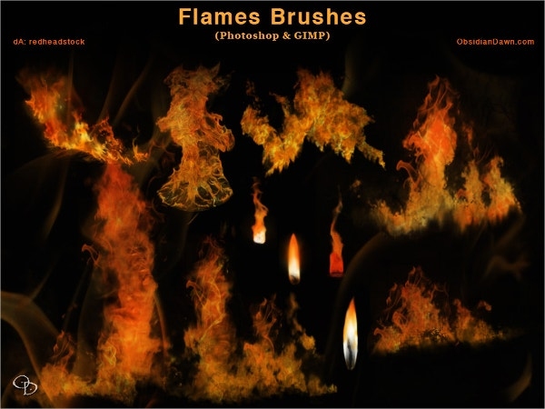 gimp fire brushes