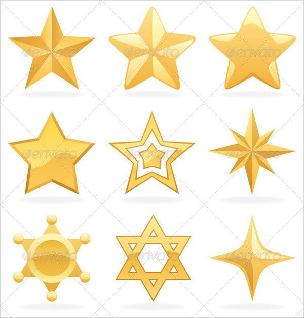 Golden Star Icons