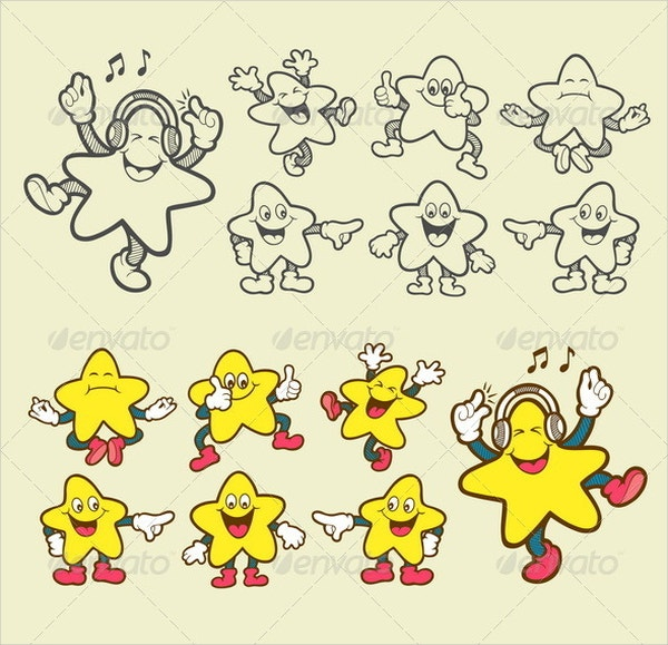 Smiley Star Icons