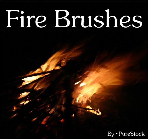 Editable Fire Brushes