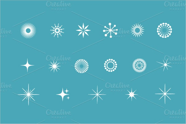 Snowflakes Star Icons