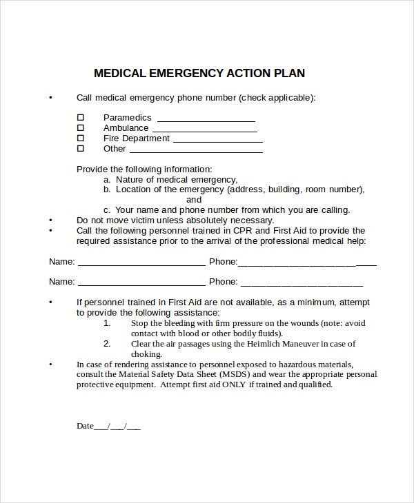 Emergency Action Plan Template. And Efficiencies For Companies ...