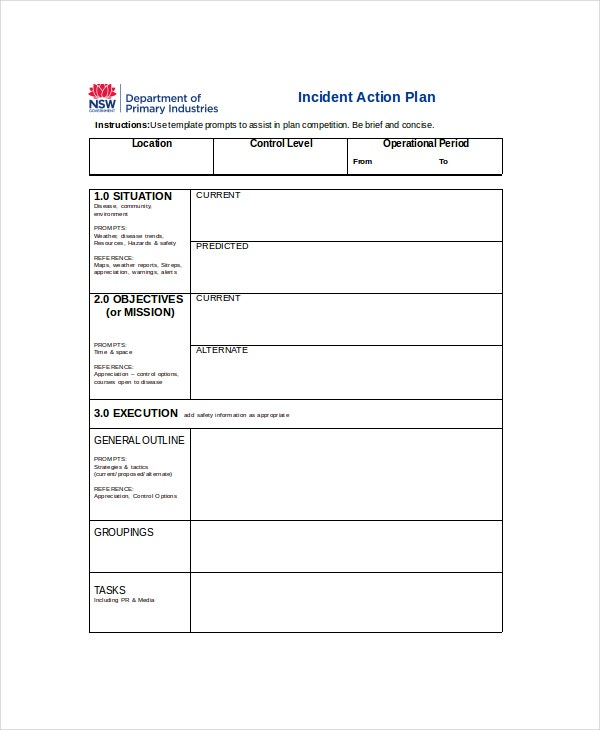 Action Plan Template   Free Word Pdf Document Downloads