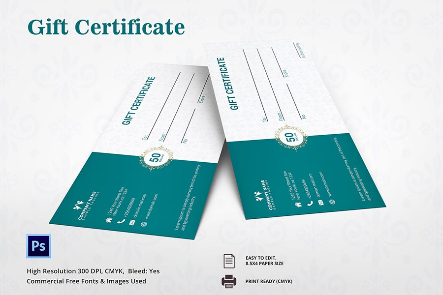 Printable Birthday Gift Certificate