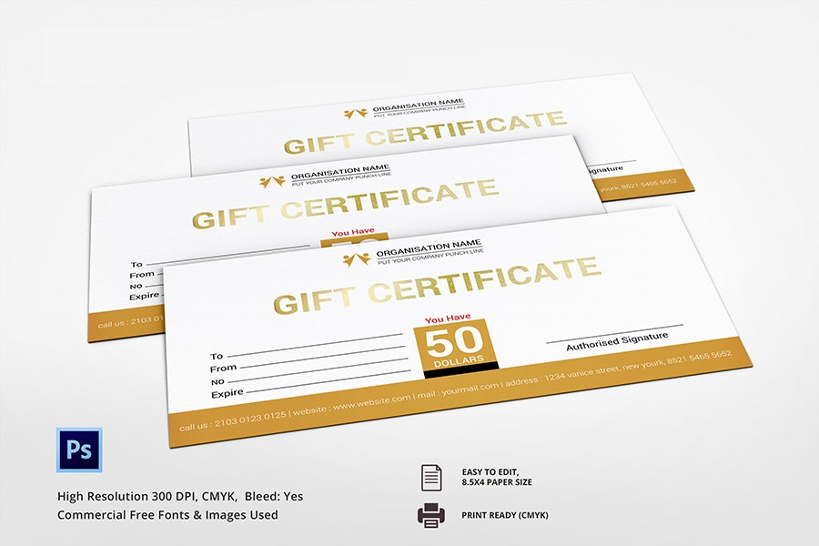 Consultant Gift Certificate Template