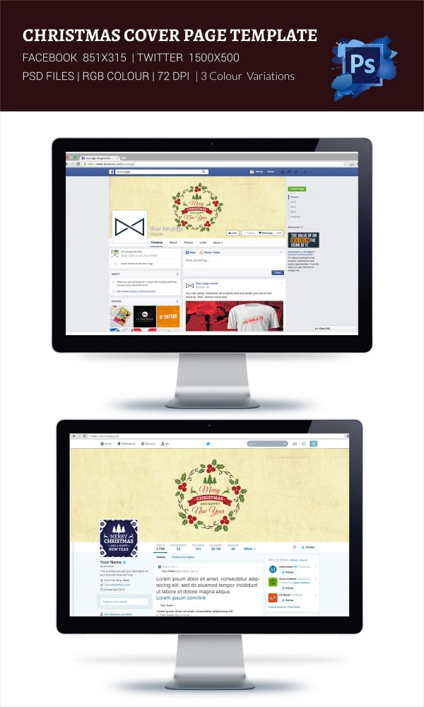 Beautifully Designed Christmas Social Medial Cover Page