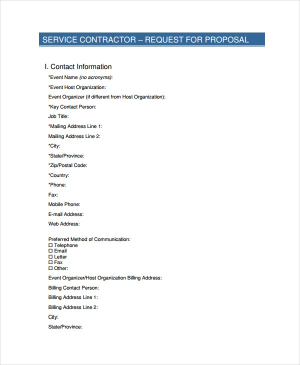 service contract proposal template