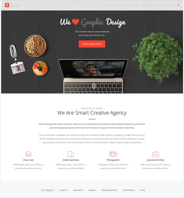 Creative Responsive WordPress Theme $59