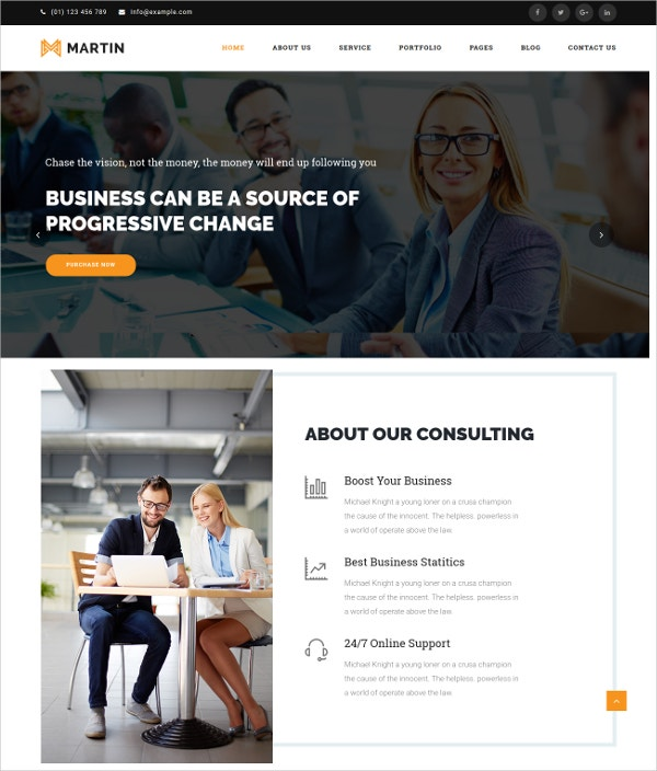 Multipurpose Business Responsive WordPress Theme $49