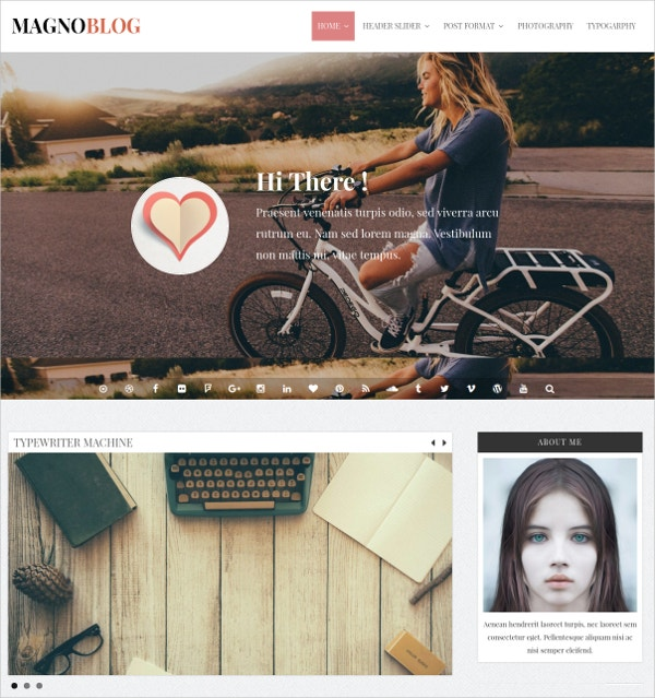 Magazine Blog WordPress Theme $39