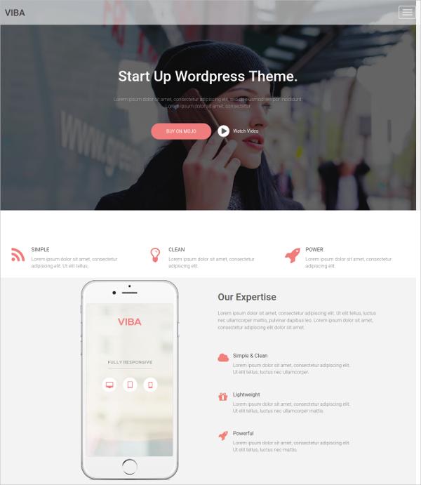 Startup Company WordPress Theme $59