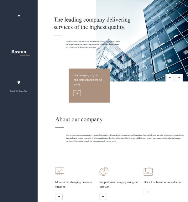 Business & Company Joomla Template $75