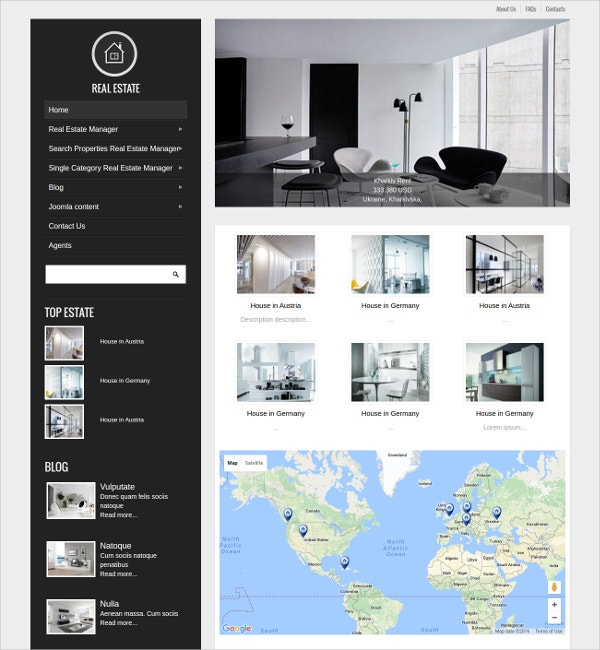 Real Estate Design Joomla Template $69