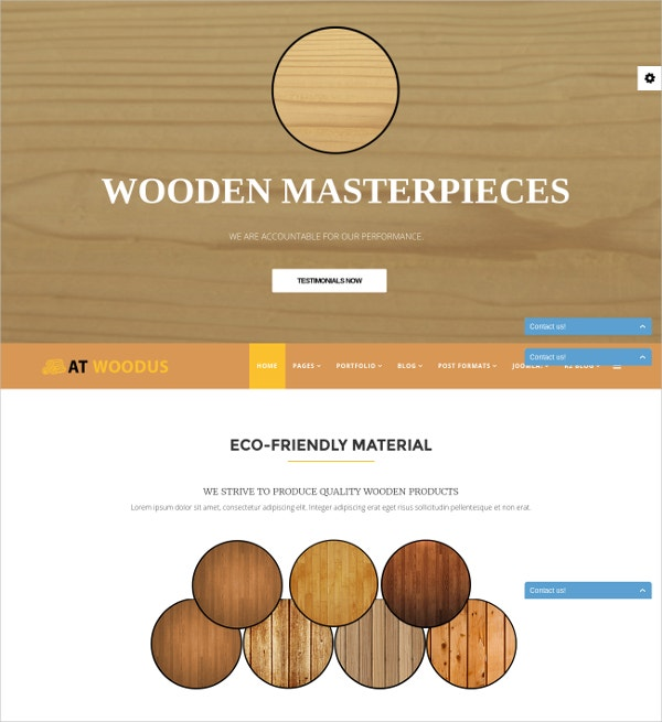 Wood Business Joomla Template $19