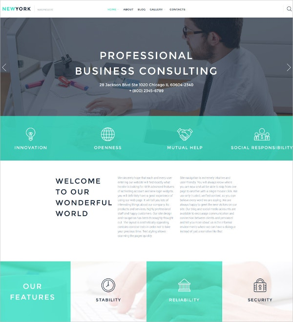 Business Consulting WordPress Blog Theme $75