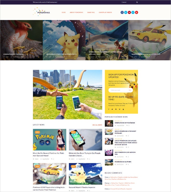 Premium Games WordPress Theme $55