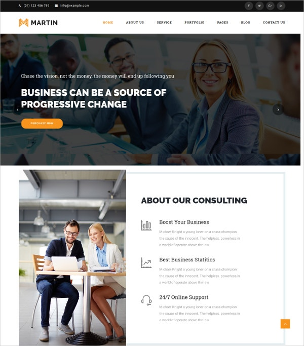Multipurpose Business WordPress Theme $49
