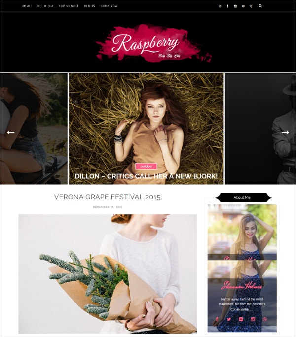 Responsive Fashion Beauty Blogger Template $25