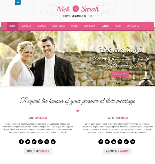 Minimal Wedding WordPress Blog Theme $48