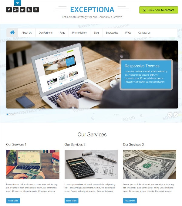 Financial Accounting Blog WP Theme $48