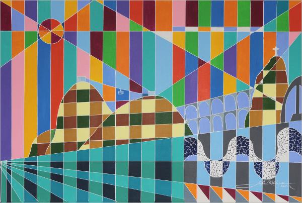 Rio de Janeiro Theme Geometric Wall Art