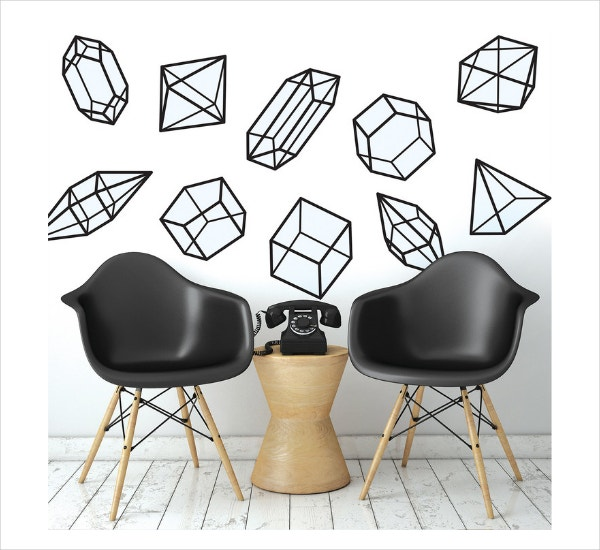 Prisms Wall Decals Geometric Art
