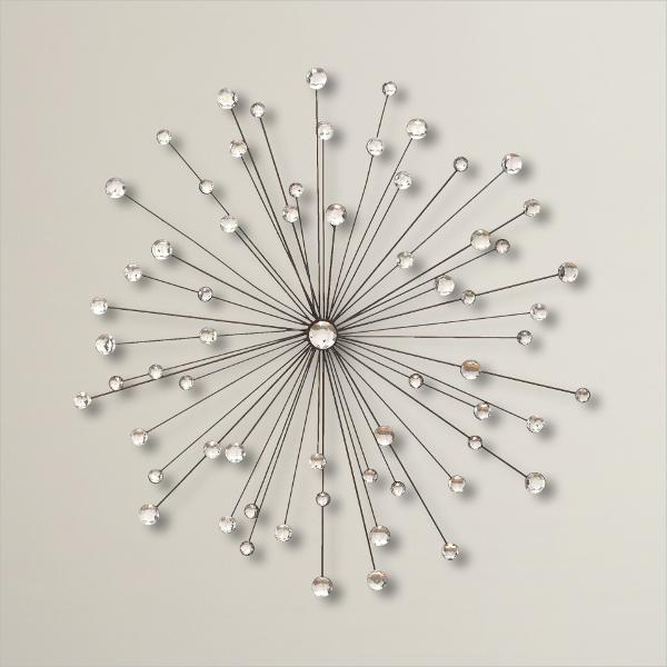 geometric bead wall art decor