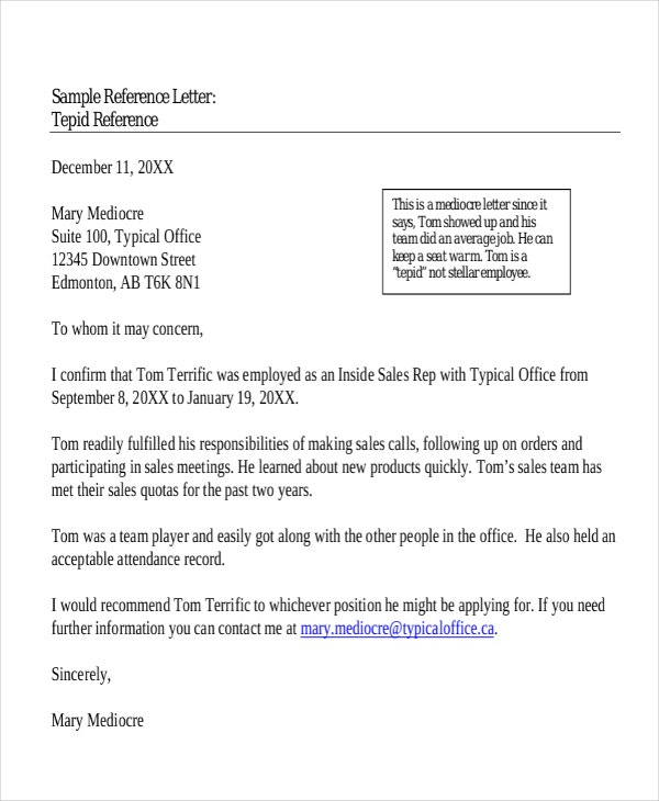 Job Reference Letter. Job Recommendation Letter Sample Best Letter