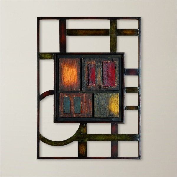 Abstract Metal Wall Décor Geometric Art