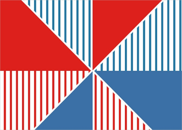 Americana Pinwheel Geometric Wall Art Design