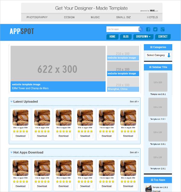 Free APP Portal CSS Template