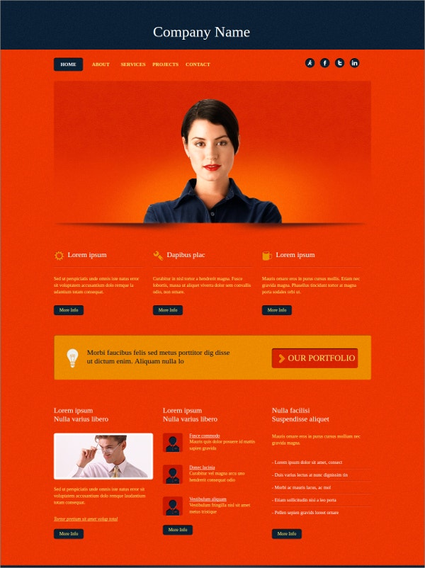 Free Business Website CSS Template