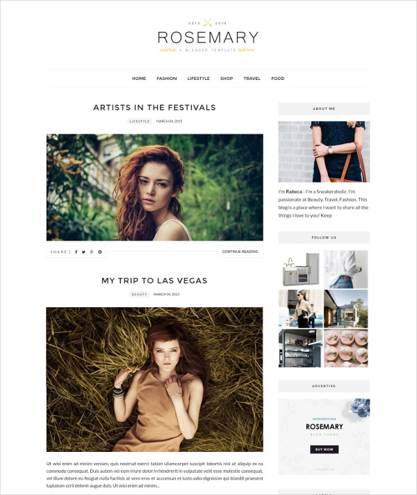 Free Photography Blogger Template