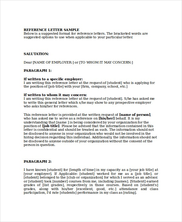 Marvelous Business Reference Letter For A Colleague  Business Reference Letter Template