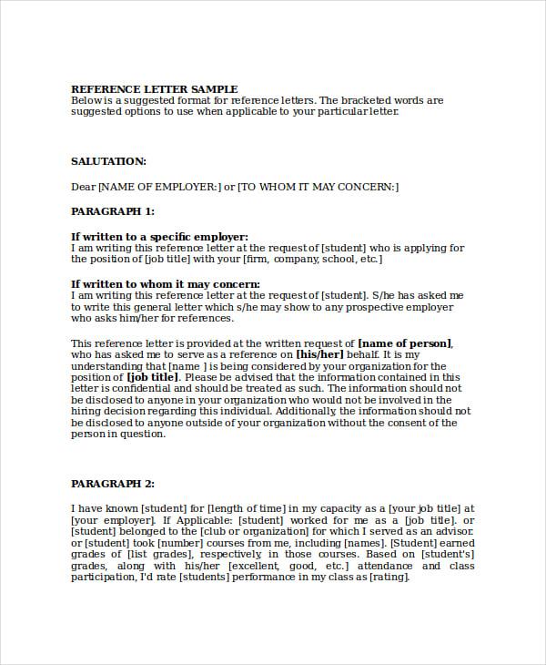Formal Letter Format Reference