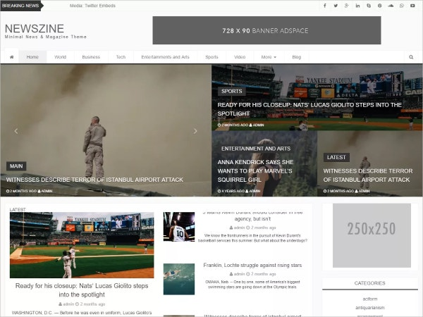 Free News and Blog WordPress Theme