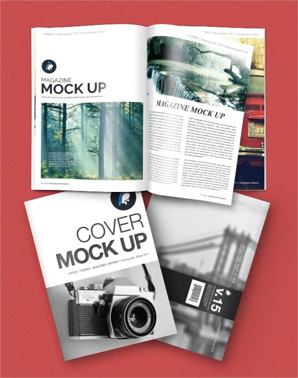 Free Mockup Magazine + Cover