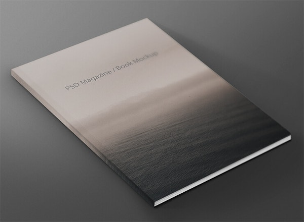 FREE Magazine Book Front Cover Mock-up Template PSD File