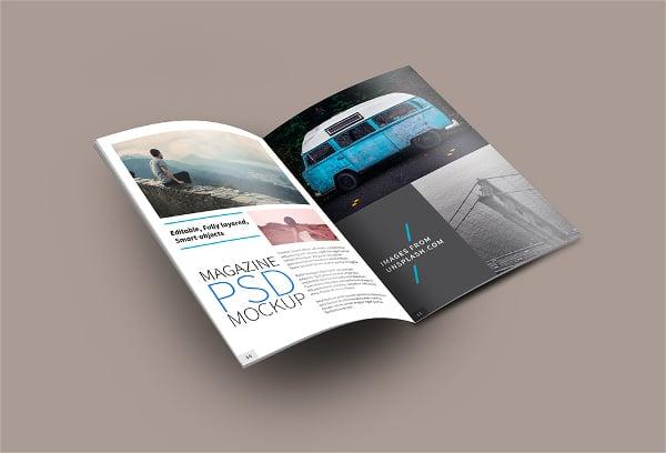 Open Magazine PSD Mockup