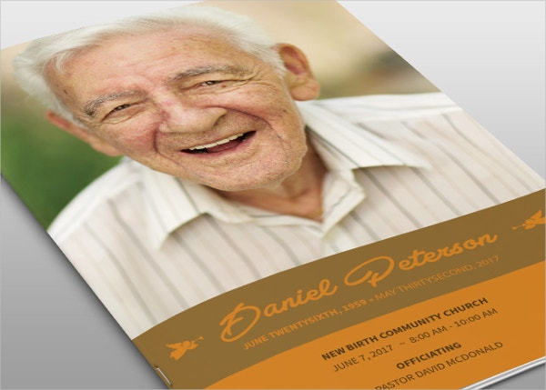 Naples Funeral Program Template