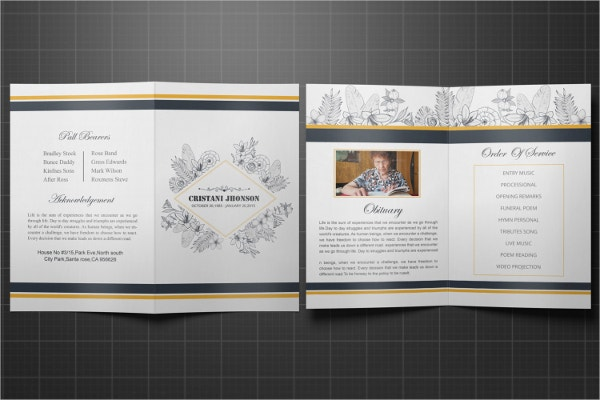 Father Printable Funeral Program Template
