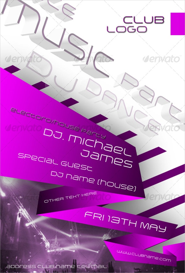 3D Party Flyer Template