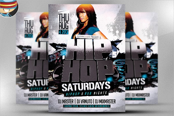 3D Hip Hop Flyer