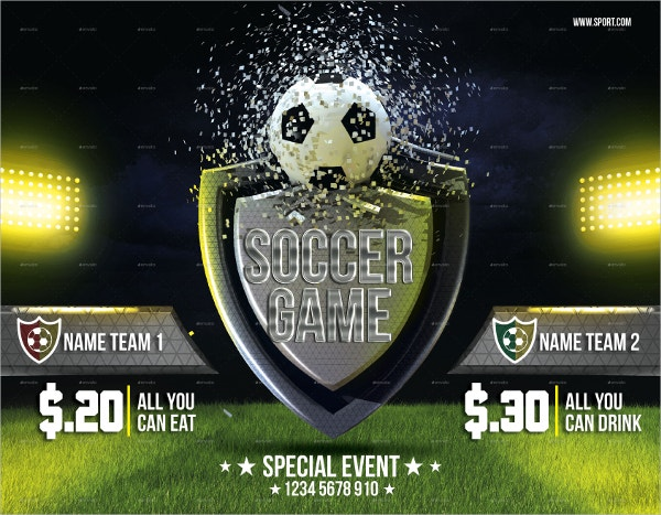 Soccer 3D Flyer Template
