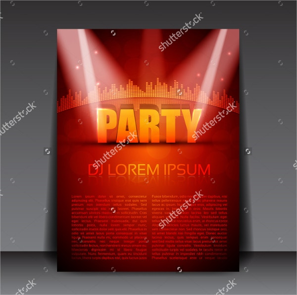 Party 3D Flyer Template