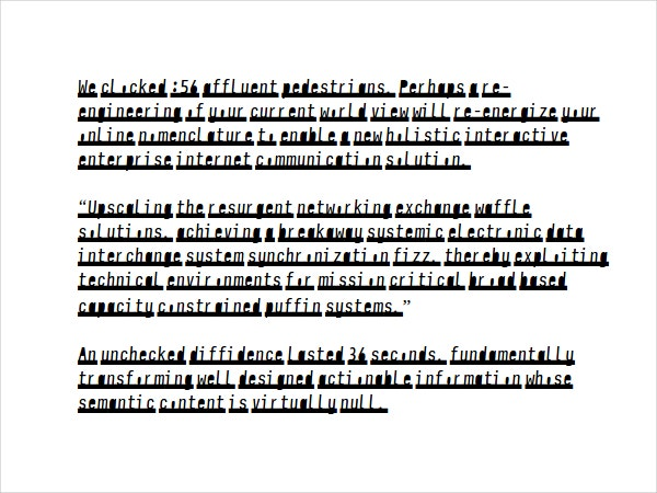 Newsletter stencil