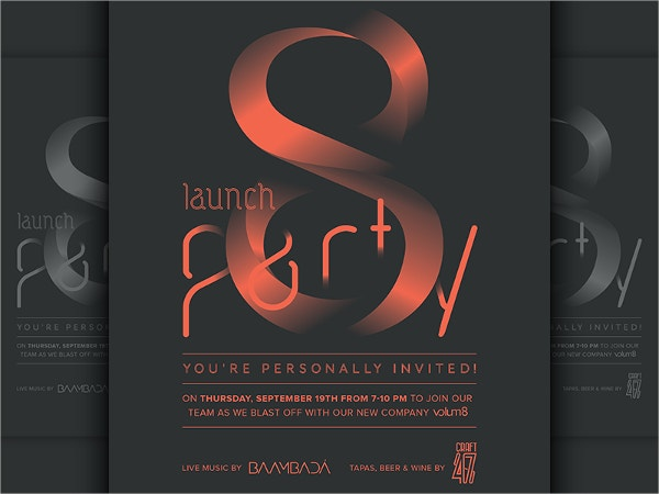 3D Launch Party Flyer