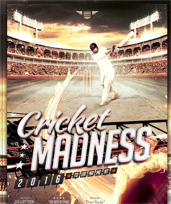 Cricket Madness Flyer Template