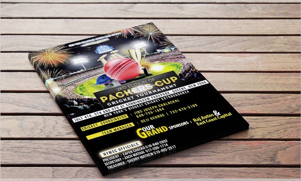 Cricket Flyer Design Template